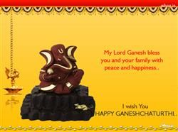 I Wish You Happy Ganesh Chaturthi , Ganesh Chaturthi Greetings, Ganesh Chaturthi Fb Covers, Ganesh Chaturthi Images For Facebook