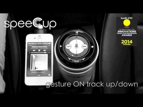 SpeeCup is a Siri/S Voice Activated Portable Bluetooth Surround Sound Speaker with gesture control