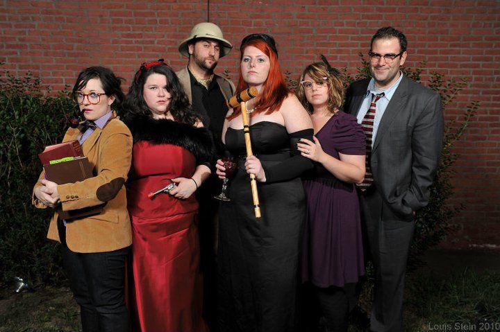 Clue Themed Party #halloween #cosplay #clue #MissScarlet #professorplum #mistergreen #colonelmustard #mrswhite #mrspeacock