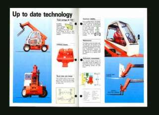 ManiTou MTI 240 Boom Fork Lift Loader Sales Brochure