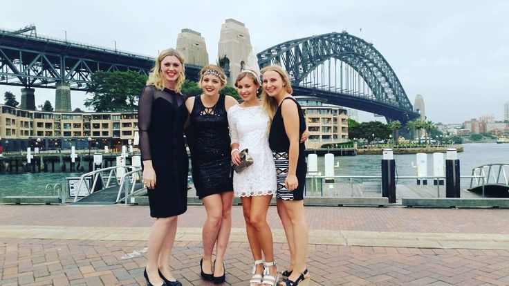 These girls  #sydneyharbourbridge #sydney #travel #wanderlust #1920s #friends #flatmates #Australia #iconic #harbour #gradball2015 #hillsongcollege #fun #blessed by nicolevandoesburgh http://ift.tt/1NRMbNv