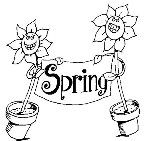 Spring Flower Coloring Pages Kids Coloring Pages