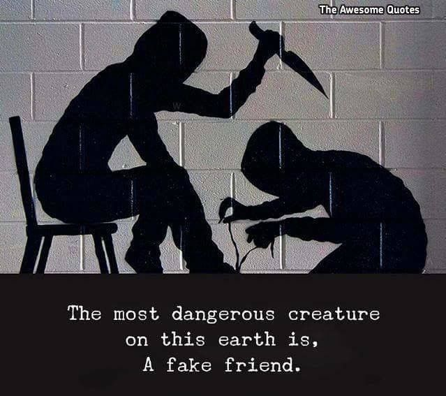 Worst thing in my life is having fake friends