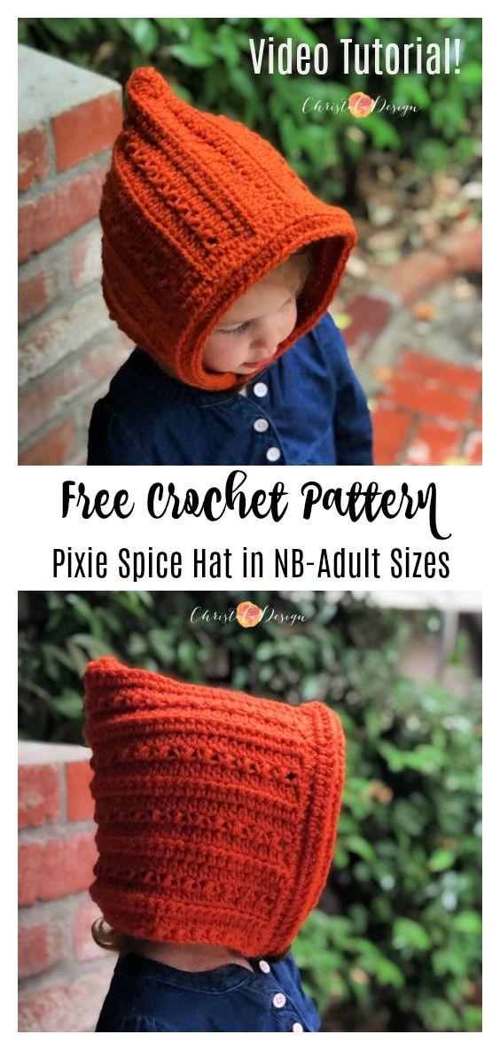 Pixie Spice Free Crochet Hat Pattern Christacodesign Free Crochet