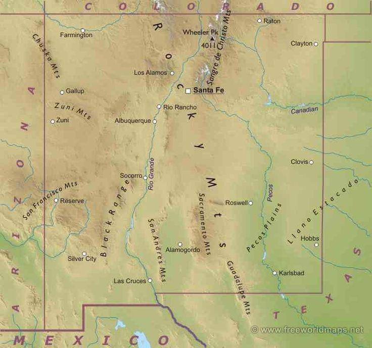Нью-Мексико штат : Флаг штата Нью-Мексико Нью-Мексико (англ. New Mexico, исп. Nuevo México) — гористый штат на юго-западе США, один из так называемых Горных штатов. Население — 1,819 млн человек (36-е место среди штатов; данные 2000 г.). Столица — Санта-Фе, крупнейший город — Альбукерке...
