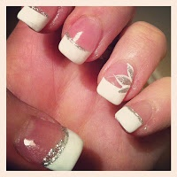 Pretty French Manicure - Full Post on Hand Drawn Heart