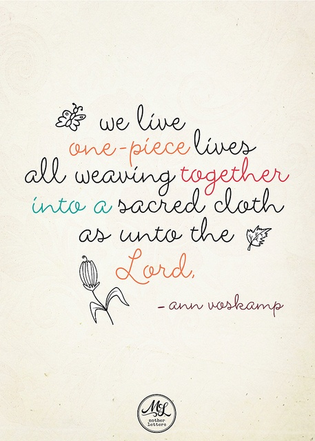 Ann Voskamp Quote by motherletters, via Flickr