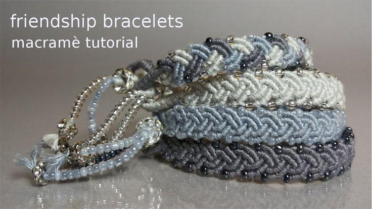 Macramè Tutorial: how to make easy friendship bracelets chic! http://www.macrameconstile.blogspot.it