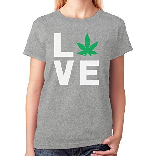 Love Weed - Cannabis Ganja Marijuana Smokers Gift for Weed Day Women T-Shirt - 420 Shop