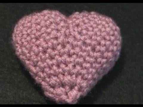 Crochet Valentine Puffy Heart - Small (+lista de reproducción)