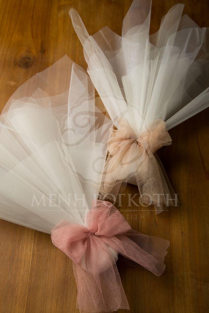 Μπομπονιέρα γάμου κλασική σε vintage αποχρώσεις