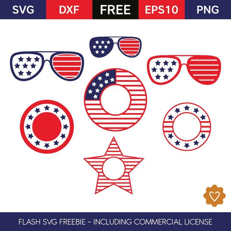 4th of July Monogram Frames Love SVG files I have
