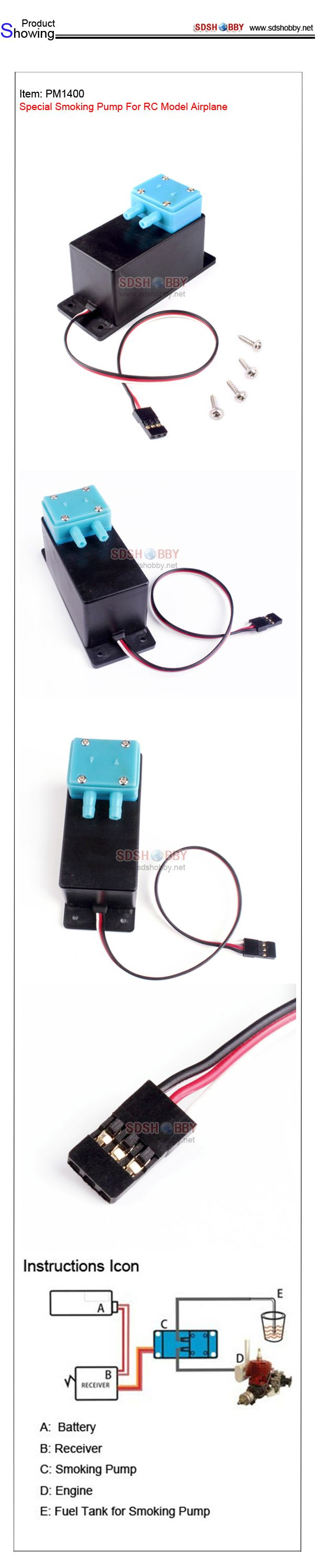 Special Smoking Pump For RC Model Airplane