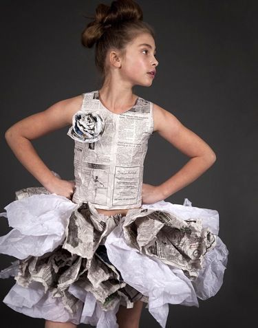 love this paper dress by Dani Brubaker