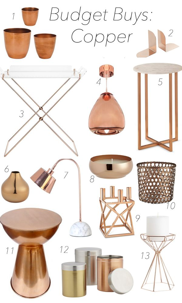Best 20 Copper accessories ideas on Pinterest Bedroom color