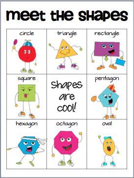 Classroom Freebies Too: Meet the ShapesMath, Ideas, Classroom Freebies, Schools, Classroomfreebies, Meeting, Learning Shape, Kids, Shape Posters
