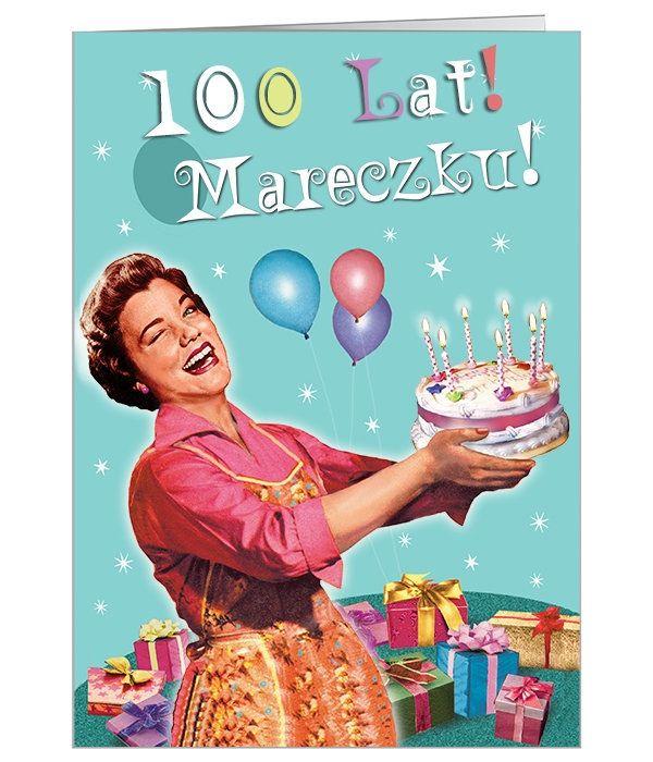 Zabawna, kolorowa kartka z tortem na urodziny