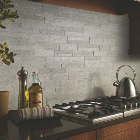 20 Gorgeous Backsplashes To Inspire You: Urban Gray Kitchen Backsplash For  Behind Stove through-