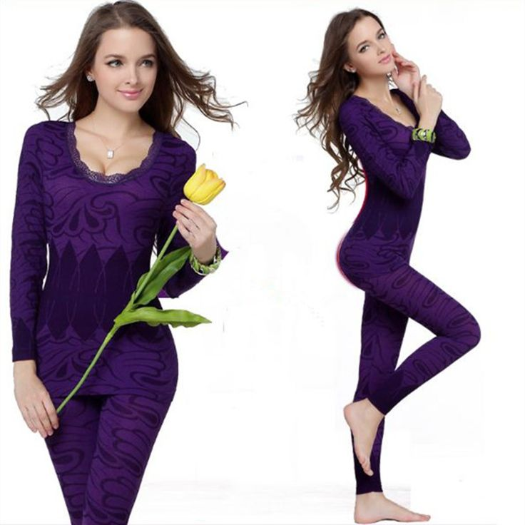 Women Seamless Thermal Underwear Winter Wear Sets Slimming Long Johns Warm Thermo Woman Long Sleeves Thin Set Body Suit