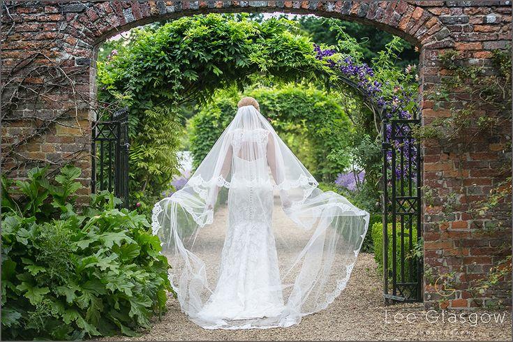 Bride at her Stapleford Park Wedding Venue.