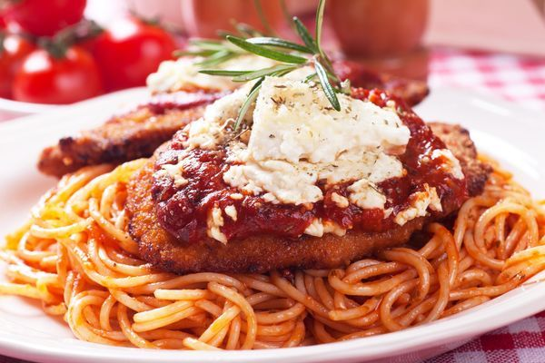 Pinch of sugar Pinch of salt For the rest of the dish:  16 ounces of spaghetti, linguini, or your favorite pasta, cooked al dente 4 chicken...