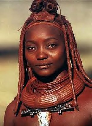 Himba woman in her traditional dress. The pastoral people feel their way of life will be threatened with the building of a dam on the Cunene River in northern Namibia. by Pan-African News Wire File Photos, via Flickr