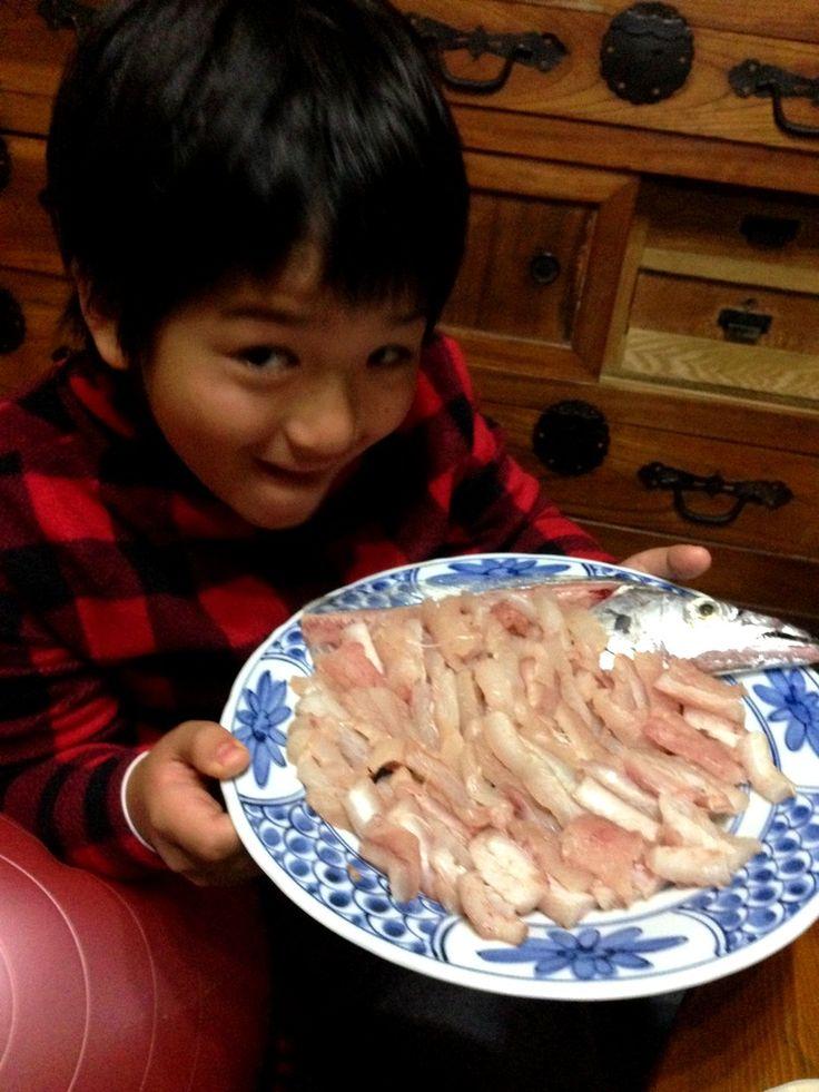 太刀魚の刺身♪ Sashimi of cutlass fish♪