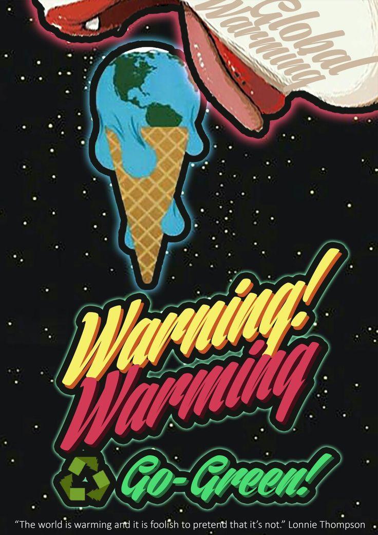 Go-green editing poster 'warning warming'