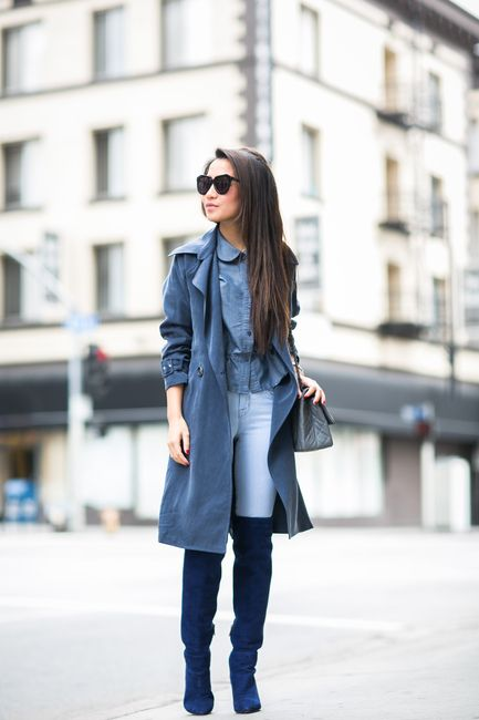 Total Blue :: Soft trench & Sapphire boots