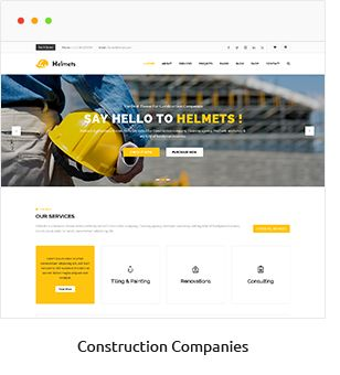 Helmets - Responsive Business theme for companies