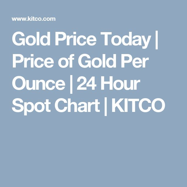 Gold Price Today Of Per Ounce 24 Hour Spot Chart Kitco Training Pinterest Train And