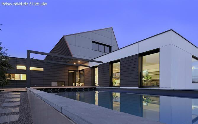 Maison ideaa architecture watwiller ext rieur bardage for Architecture exterieur maison