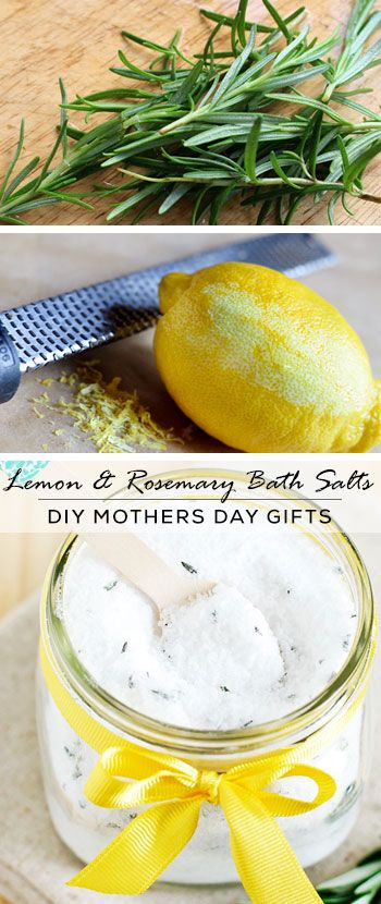 Lemon & Rosemary Bath Salts - DIY Mothers Day Gift Ideas - Click for Tutorial