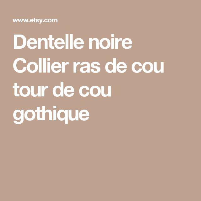 Dentelle noire Collier ras de cou tour de cou gothique