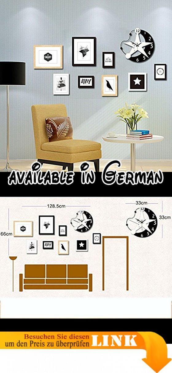YMXLQQ Moderner Bilderrahmen-Collage-Massivholz-Rosa-Wand - schöne wanduhren wohnzimmer