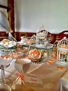 Schön Wedding Decoration With Apricot Roses Made By Princess Dreams