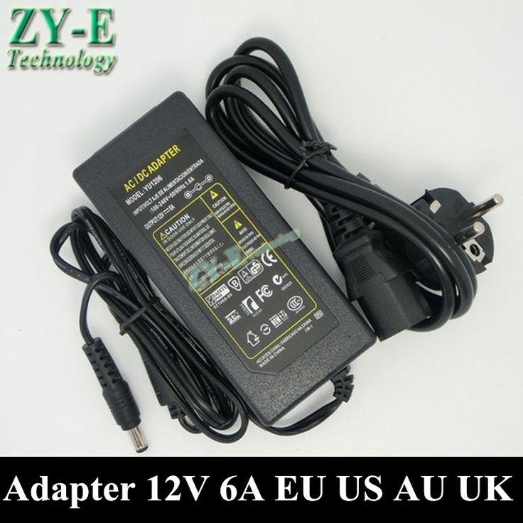 1X 12V 6A Electrical Equipment&Supplies power supplies AC/DC Converter Adapters 5.5x2.1mm 5050 Strip lihgt transformer free ship #Affiliate