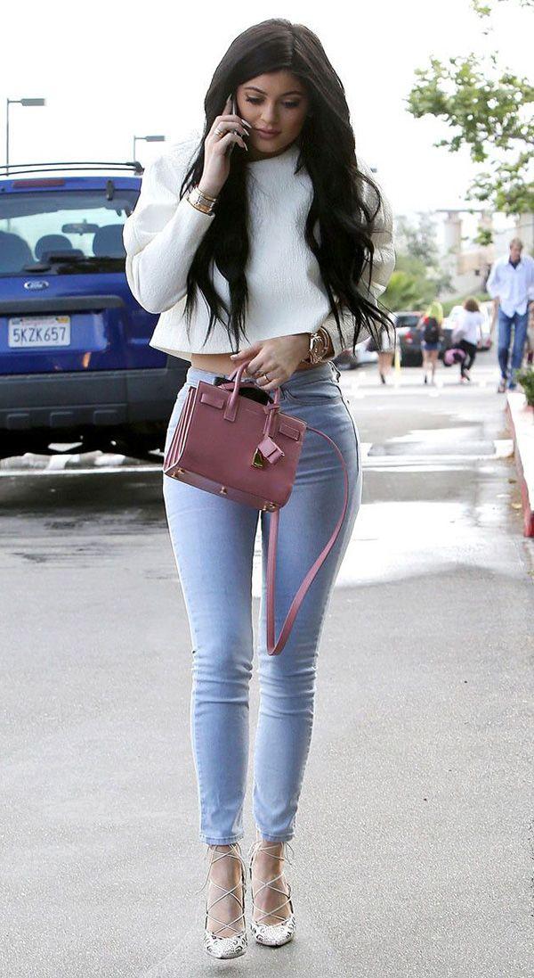 Kylie Jenner Calça Jeans