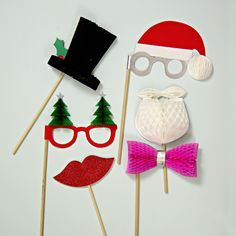 SANTA PHOTO BOOTH PARTY PROPS - Perfect for your Holiday party this Christmas.  Bonjour Fete- a boutique party supply company now shipping from Los Angeles, CA