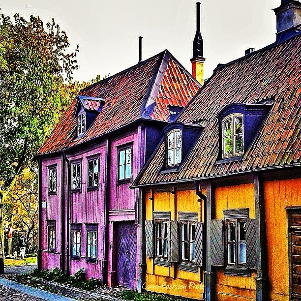 Old wood houses in Stockholm (Södermalm)