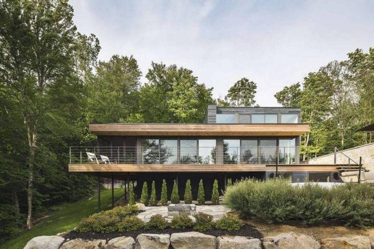 Kő és fa - lépcsőzetesen épített modern ház szép erdős környezetben - Estrade Residence / Mu Architecture