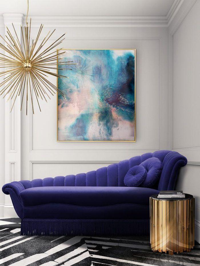 ▷ 1001 + Ideen zum Thema Welche Farben passen zusammen - Wandgestaltung Wohnzimmer Grau Lila