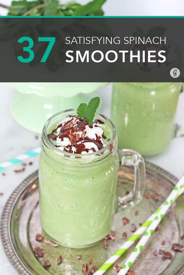 These are slurp-worthy to the very last drop. #smoothies #spinach #recipes http://greatist.com/eat/spinach-smoothie-recipes