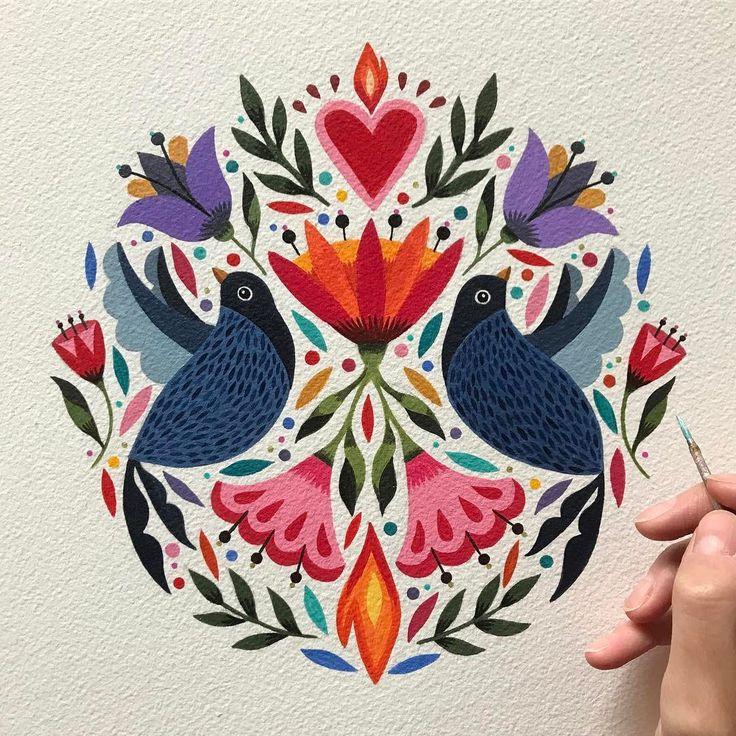 "7,729 mentions J'aime, 141 commentaires - Maya Hanisch / Pili (@maya_hanisch) sur Instagram : ""Happy monday everyone! Feliz Lunes amigos!  original on sale, acrylic on paper: 26 x 36 cm /…"""