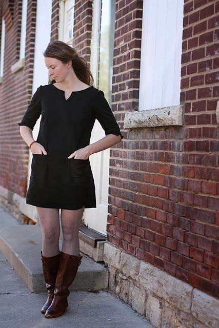 Noodlehead: Project Sewn: Fall Mod Dress Made with Brussels Washer Linen