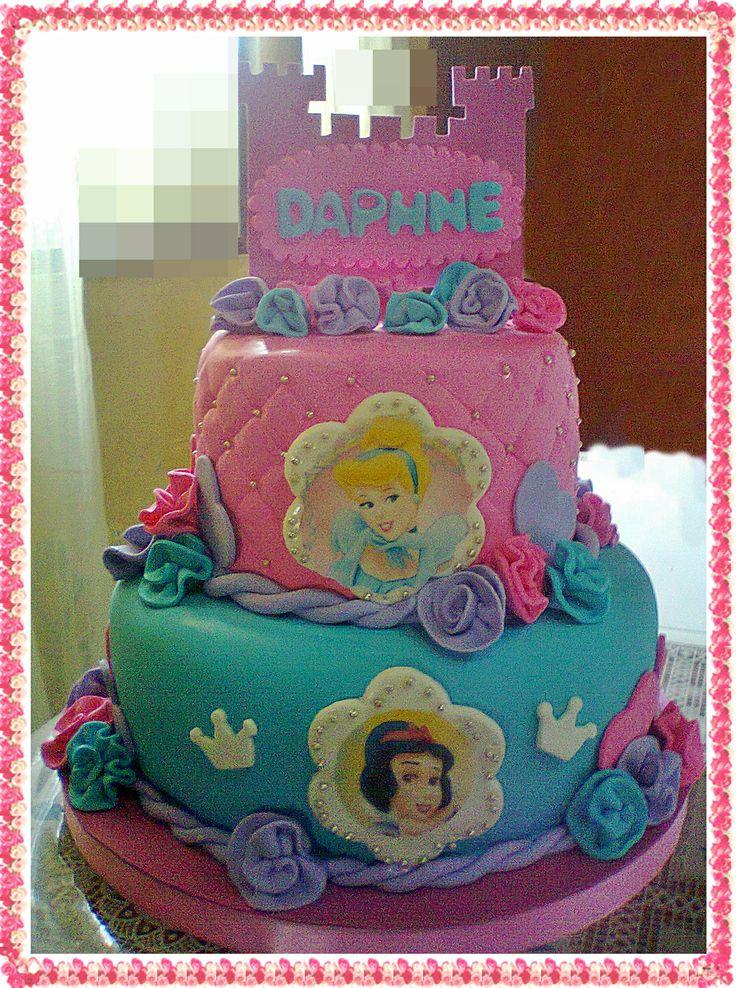 torta de princesas disney | Tortas de cumple para Sofía | Pinterest