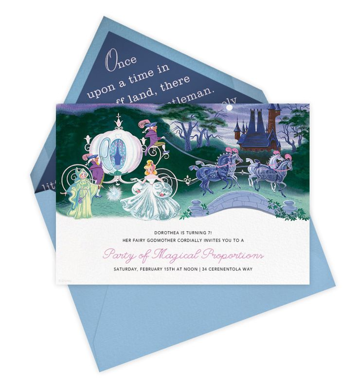 free evite photo invitations%0A These Themed Invitations Are Fit for a Disney Princess