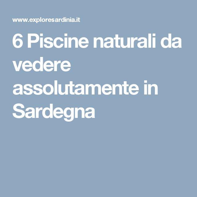 6 Piscine naturali da vedere assolutamente in Sardegna