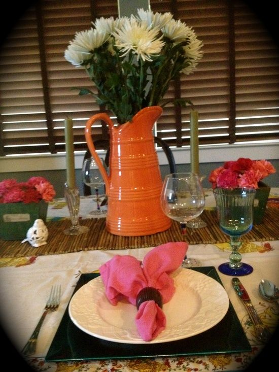 DIY: 53  amazing ideas of spring table decoration Love this look! I could see this on my table!