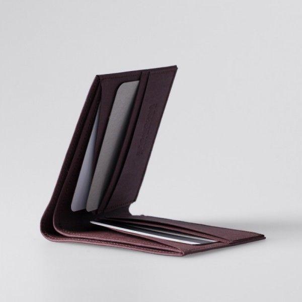 Minimalist Super-Thin Washable Paper Bi-Fold Wallet in Uluru Red